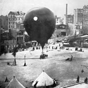 First balloon to leave Paris during siege in 1870