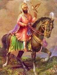 Guru Gobind Singh with Dove