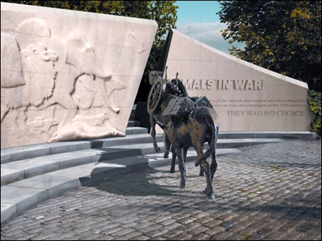 Memorial to animals lost in war, Hyde Park