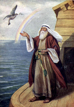 Noah and Dove of Peace