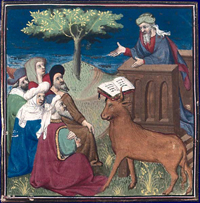 Prophet Mohammed depicted with dove