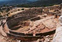 Greek ruins at Mycenae 1600 BC