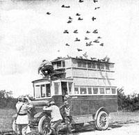 Mobile pigeon loft World War 1
