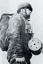 World War 2 paratrooper with carrier pigeon