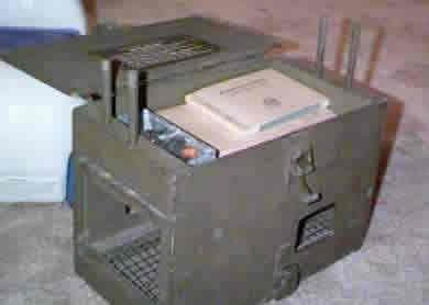 World War 2 pigeon carrier with message equipment